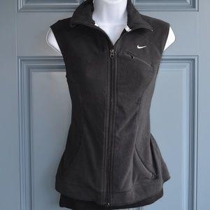 Black Nike Fit Therma Fleece Runners Vest Sz. Md.